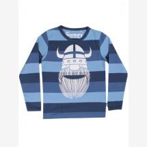 -Danefae blue striped shirt with Wiking Erik-21