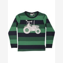 -Danefae green striped shirt with a tractor and Wiking Erik-21