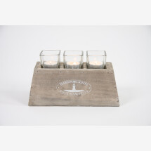 -Lantern holder Harbor Lights with 3 glasses Countryfield-21