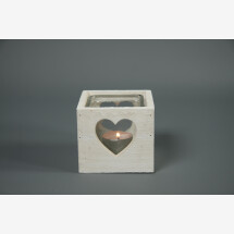 -Tealight holder wood with heart cutout and glass S Countryfield-21