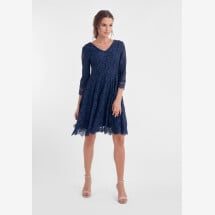 "-blue dress with lace ""Camille"" DRY LAKE-21"