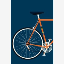 -Crescent Back by Bo Lundberg Bicycle Premium Poster-21