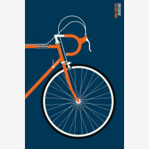 -Crescent Front by Bo Lundberg Bicycle Premium Print-21