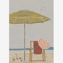 -Deck chair from Kunga by The Artcircle Premium Poster-21