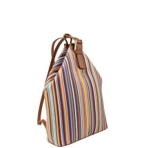 -Stripped Canvas backpack-21
