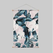 -Textile poster PINK LEAVES-21