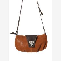 -Leder Umhängetasche mit Elefantenkopf-21