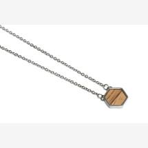 -BeWooden Lini necklace hexagon-21