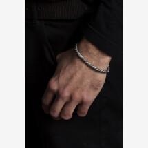 -Sterling Silver Rope Bracelet-21