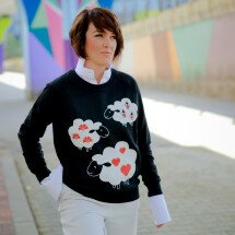 -Organic cotton sweatshirt OIANA-21