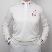 -White merino wool sweater ALISIA ENCO-21