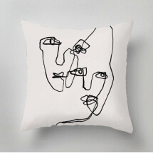 -White Bold Faces Pillow-21