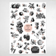 "-A2 poster ""Fruit and nuts""-21"