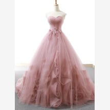 -Pink evening dress wedding dress-22