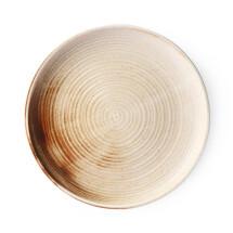 -HKliving dinner plate porcelain cream brown KYOTO-21