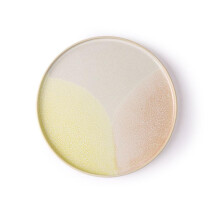 -GALLERY round plate pink / yellow-21