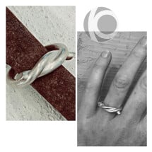 -Silver knot ring-22