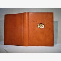 "-Photo album ""Fleur dAmour"" with gold insert for weddings-21"