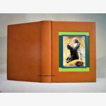 "-Photo album ""LEdera"" with oil painting as insert for weddings-21"