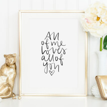 -Tales by Jen Art Print: All of me loves all of you-21
