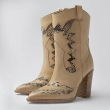 -light brown Americana Western snake ankle boots BRONX-21