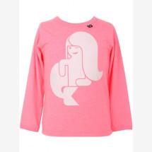 -Danefae neon pink shirt with mermaid-21