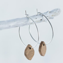 -Wood Sapele OVAL EARRINGS-21