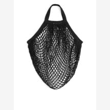-Turtle bag made of GOTS certified organic cotton in black with short crochet-21