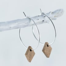 -Wooden Sapele DIAMOND earrings-21