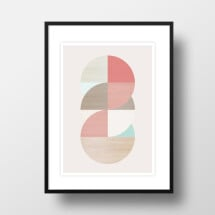 "-A4 Artprint ""wooden circles""-21"