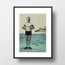 "-A4 Artprint ""Beach Boy""-21"