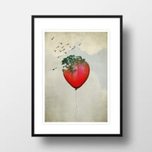 "-A4 Artprint ""red balloon""-21"