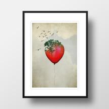 """-A4 Artprint """"red balloon""""-21"""
