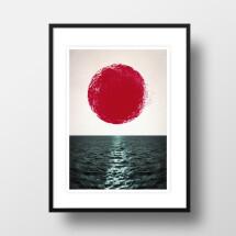 """-A4 Artprint """"Sunset""""-21"""