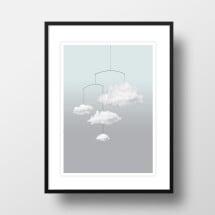 "-A4 Artprint ""Cloud mobile""-21"