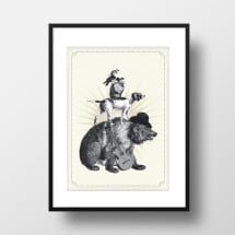 "-A4 Artprint ""Berlin City musicians""-21"