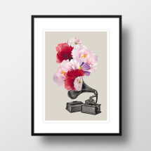 """-A4 Artprint """"Blumophon""""-21"""