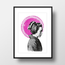 "-A4 Artprint ""Geisha""-21"