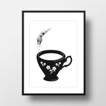"-A4 Artprint ""Plunge into Tea Cup""-21"
