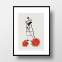 "-A4 Artprint ""Melon cyclists""-21"