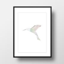 "-A4 Artprint ""origami Hummingbird""-21"
