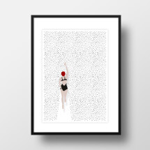 "-A4 Artprint ""Point swimmer""-21"