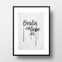 "-A4 Artprint ""Berlin I love friends""-21"