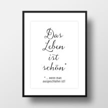 "-A4 Artprint ""Life is beautiful""-21"