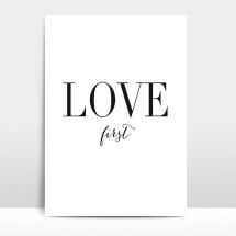"-A4 Artprint ""Love first""-21"