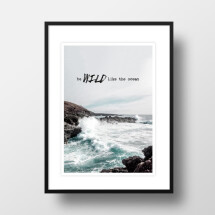 "-A4 Artprint ""wild like the ocean""-21"