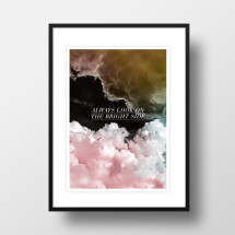 "-A4 Artprint ""Pink clouds""-21"