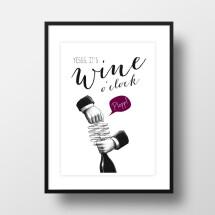 "-A4 Artprint ""wine oclock""-21"