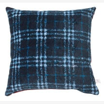 -Velvet cushion Monsieur with checked pattern by La Rêverie Daniela-2
