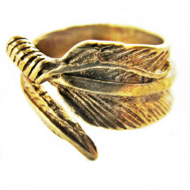 -Bronze colored spring ring unisex-20